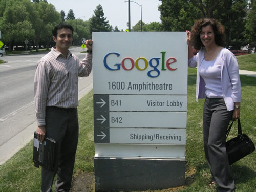 1995 Alumnnus and Google employee, Vikram Grover with Laura Segura, Director in 2008